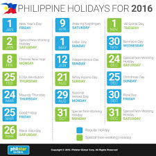 infographic philippine holidays for 2016 news feature news