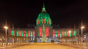 sf city hall lights san francisco during christmas stock image image of hall dark