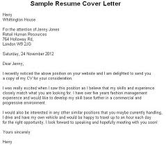 how a cover letter should look what a cover letter should look