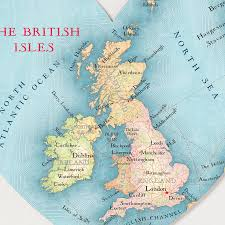 Map Of The British Isles British Isles Map Heart Print By Bombus Off The Peg