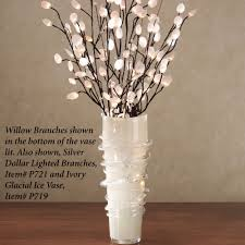 battery lighted willow branches lighted willow branches lovely decorating ivory glacial ice vase