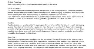 microevolution and the genetics of populations worksheet google docs