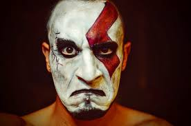 how to facepaint yourself like kratos god of war u2014 steemit