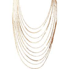chains necklace images Joan rivers_ graduated gold designer chains necklace quot cascading jpg