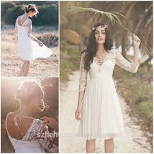 casual country wedding dresses jm bridals cw2883 charming chiffon lace applique casual knee