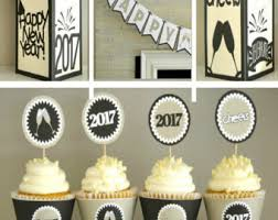 New Year Decoration Printable by New Years Banner Printable Black Gold Confetti New Year U0027s