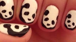panda nail art tutorial request youtube
