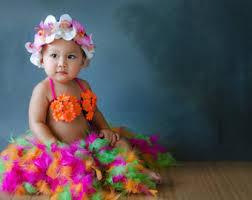 Hula Halloween Costume Hawaiian Dressbaby Luau Costumenewborn Photo Yourbabyscloset