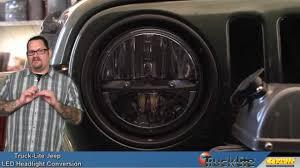 jku jeep truck truck lite led headlight conversion for the jeep wrangler youtube