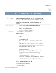 it program manager resume sample sample program analyst resume free resume example and writing agile project manager resume template