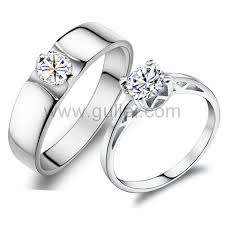 couples rings images Personalized sterling silver wedding couple rings set for two jpg