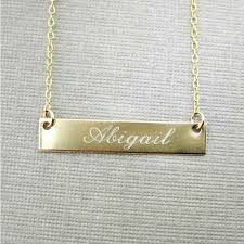 personalized name plate necklaces jc jewelry design personalized gold bar necklace gold filled