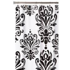 White And Black Damask Curtains Black And White Shower Curtain Walmart Modern Black And White