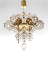 Blown Glass Chandeliers Hand Blown Glass Chandeliers With Kamenicky Enov Pair Of Czech