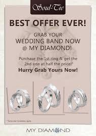 wedding band malaysia my diamond soul tie wedding ring promotion malaysia warehouse