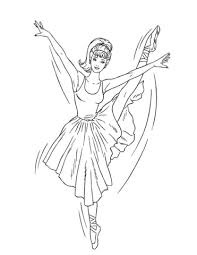 barbie ballerina coloring free printable coloring pages
