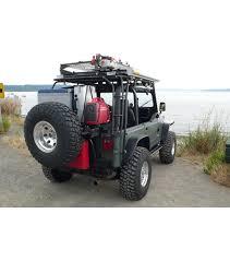 cargo rack for jeep wrangler jeep yj 86 95 ranger rack multi light setup gobi racks