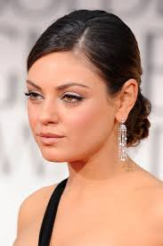 hairstyles with height at the crown mila kunis hair sleek on sides with height at crown bridesmaid