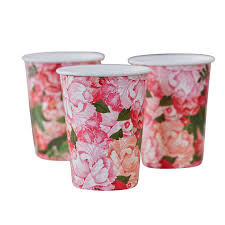 boho floral design paper party summer cups by ginger ray