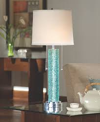 aqua crystal glass lamp from regina andrew turquoise sea home