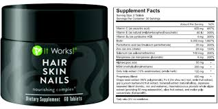 it works hair skin u0026 nails ingredients