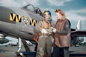 Squadron Canopies by Senior Aircraftwoman Una Taylor Of No 74 Squadron And A Pilot Of