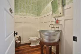 Galvanized Bathroom Lighting Galvanized Steel Vessel Sink Design Ideas Within Exciting