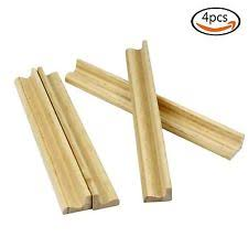 4 wood mahjong tile rack wooden replacement stand letter holder