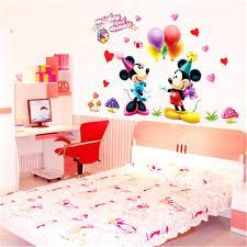 dessin mural chambre fille stickers pour chambre fille dessin animac de mickey minnie souris