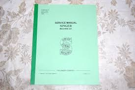 professional service manual cd singer featherweight 221 u0026 221k