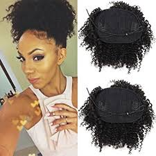 ponytail with extensions afro curly human hair ponytail extensions