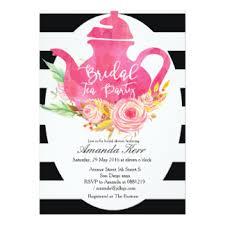 bridal shower tea party invitations bridal tea party invitations announcements zazzle