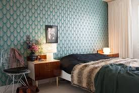 Awesome Rooms That Inspire You To Try Out Geometric Wallpaper - Wallpaper design for bedroom