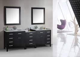 bathroom black ikea double vanity with glass doors and drawers