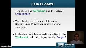 Complete Budget Worksheet Bu121 Cash Budget Worksheet Structure Youtube