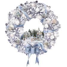 the thomas kinkade glistening wreath hammacher schlemmer