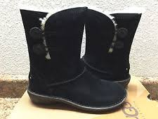 womens ugg boots uk size 9 womens ugg jemma leather suede sheepskin clog boots us 9 uk 7 5 eu