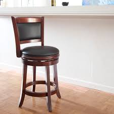 bar stools brown wooden bar stool with arm using leather seat