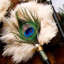 peacock feather fan nkotwb britten accessories the bijou