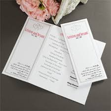 wedding programs paper diy hearts program paper 50 pcs wedding programs