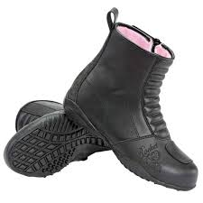 womens boots rocket joe rocket trixie womens black leather motorcycle boots