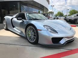 Porsche 918 Liquid Metal - dealer inventory 2015 918 spyder weissach package rennlist