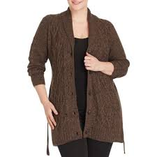 faded s plus size belted sweater car coat s