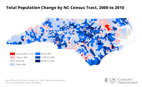 County Map Of Nc Visualizing Neighborhood Change 2000 To 2010 Carolina Demography