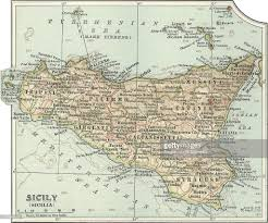 Sicily Italy Map Map Of Sicily Pictures Getty Images