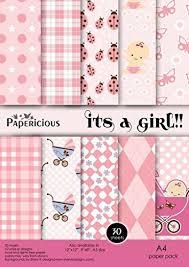decorative paper papericious designer it s a girl a4 craft paper scrapbook paper