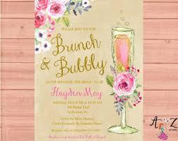bridal shower brunch invites 5 x 7 printable rustic brunch bubbly bridal shower