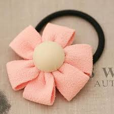 elastic hair band cotton lovely coloured petals flower ponytail holder elastic hair