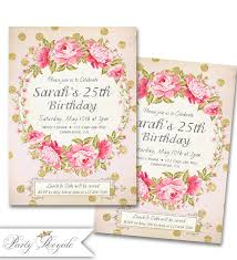 birthday invitations for her 25th birthday party