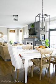 Eat In Kitchen Lighting by My Pretty New Light Fixture In The Kitchen From Thrifty Decor